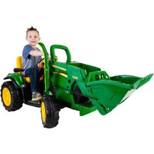 Battery Operated Ride On Toys >> Details About Kids Ride On Toy John Deere Ground Loader 12 Volt Battery Powered Riding Toys