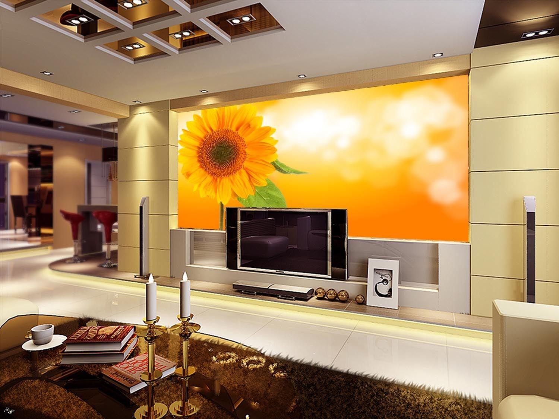 3D Sonnenblume Blätter 58 Tapete Tapeten Mauer Foto Familie Tapete Wandgemälde