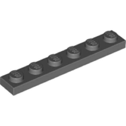 Lego 10 x Platte Bauplatte flach 3666 alt hellgrau   1x6