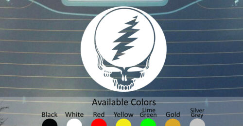 GRATEFUL DEAD LOGO VINYL DECAL STICKER CUSTOM SIZE//COLOR