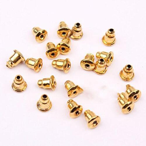 Silver CV Safety Back Bullet Clutch Earring Stopper.Back Earnut Nut Gold