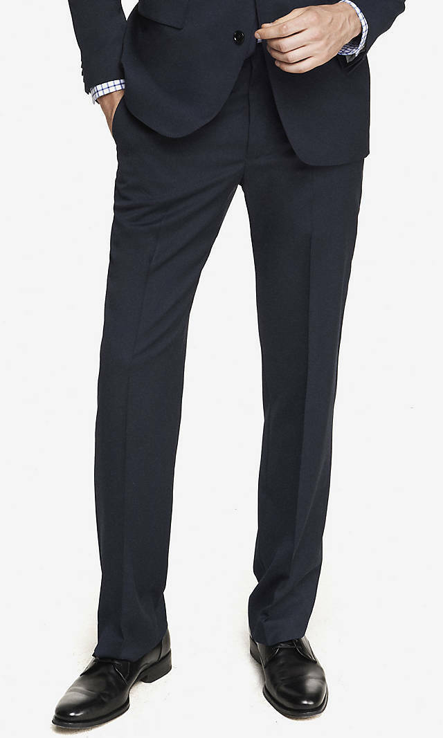 NEW EXPRESS  NAVY WOOL BLEND PRODUCER SUIT PANT SZ 38 32