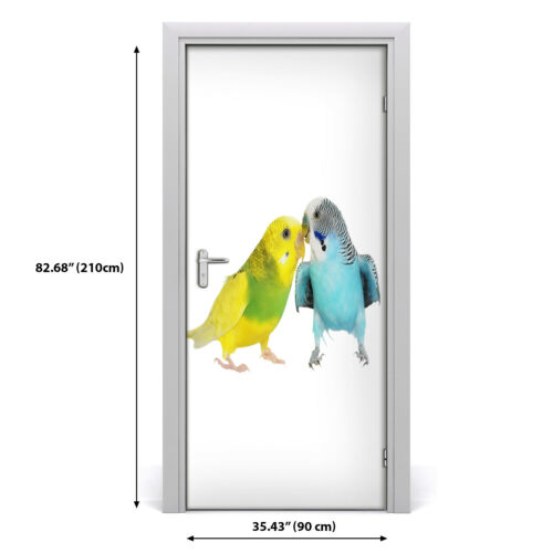 Details about  /Removable Home Decor Door Wall Sticker Self Adhesive Bedroom Animals Budgies