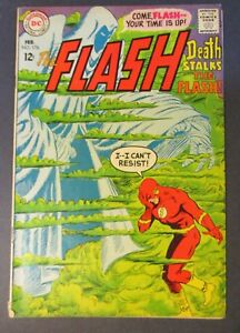 DC-Comics-Flash-176-w-Death-Stalks-1968-Vintage-Old-Comic-Book