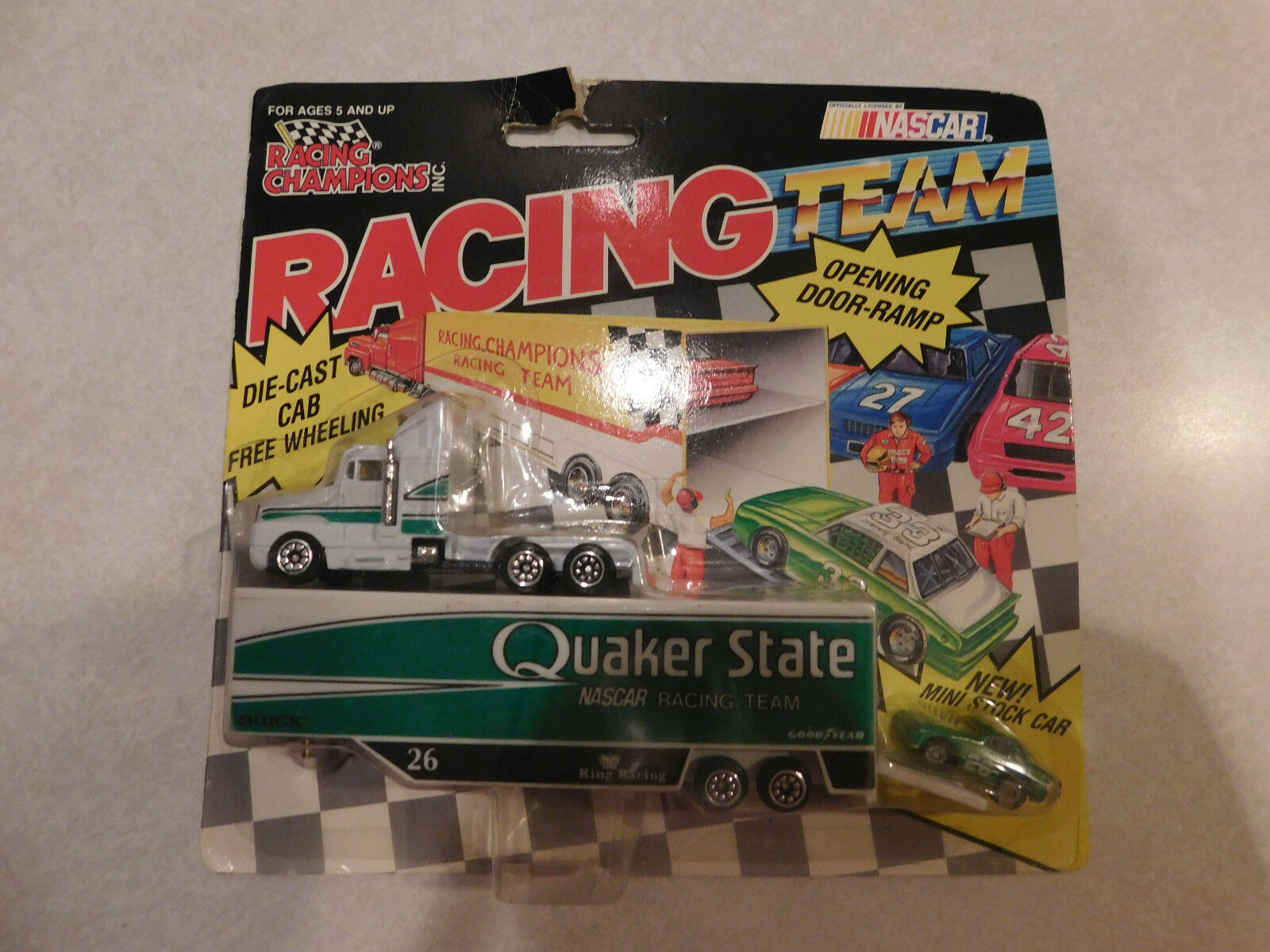 Racing Champion Racing Team Diecast Cab Free-Wheeling Quaker State Nascar Racing