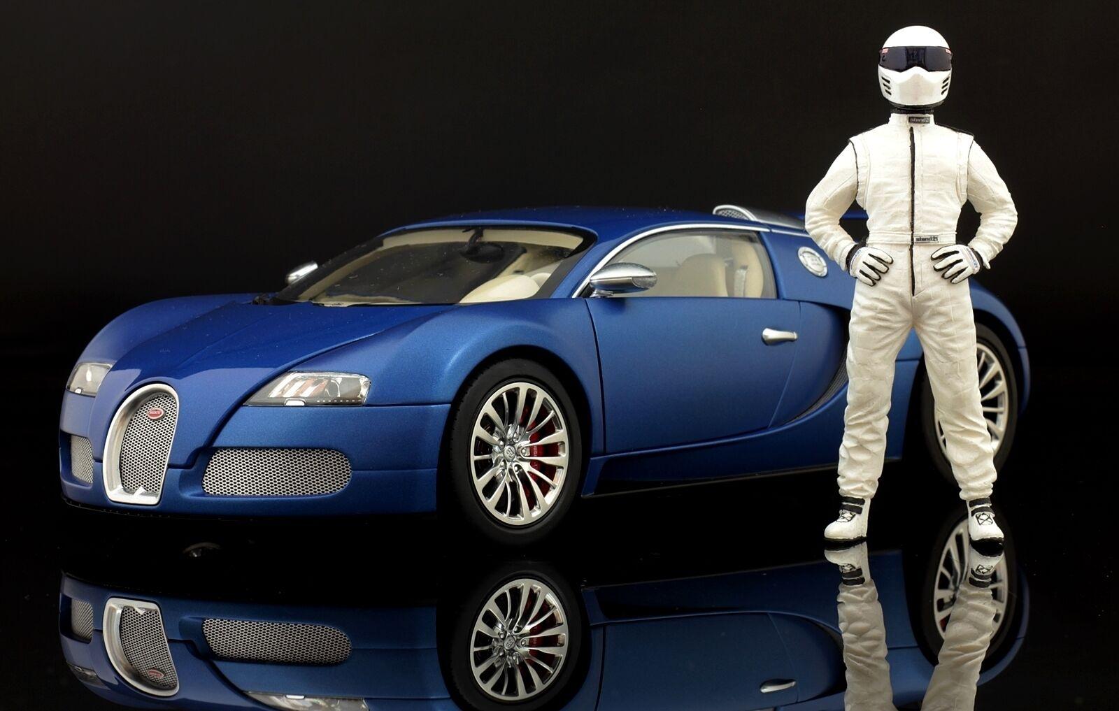 The white STIG Figure for 1 18 Autoart Porsche Top Gear VERY RARE