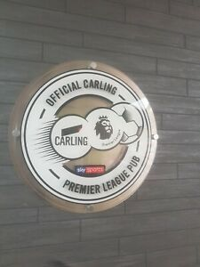 CARLING-LAGER-SKY-SPORTS-PREMIER-LEAGUE-PUB-WALL-PLAQUE-SIGN-BAR-MANCAVE-SMALL