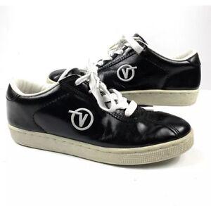 Skateboarding Shoes Black Leather Made