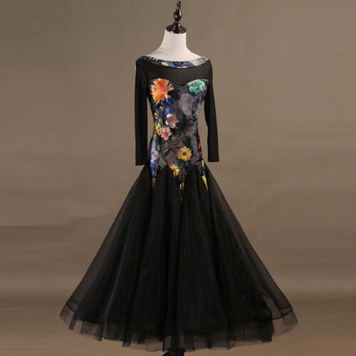 International standard ballroom dancing expansion Burnt flann Dance Dress
