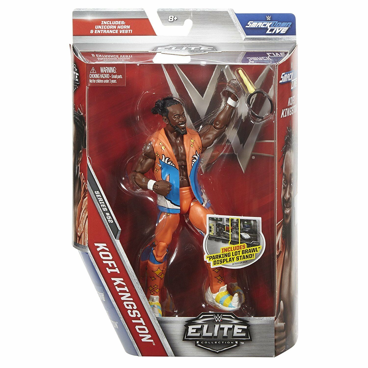 WWE Elite Serie 52 52 52 Kofi Kingston The New Day WWF Wrestling Mattel Actionfigur a6868b