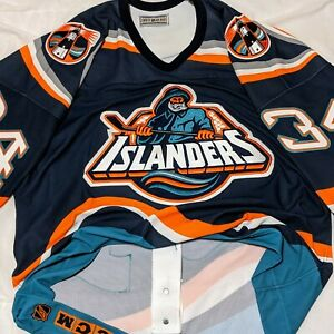 sports shoes 8a3bf 24aee Details about AUTHENTIC New York Islanders FISHERMAN Bryan Berard jersey  size 52 fish sticks