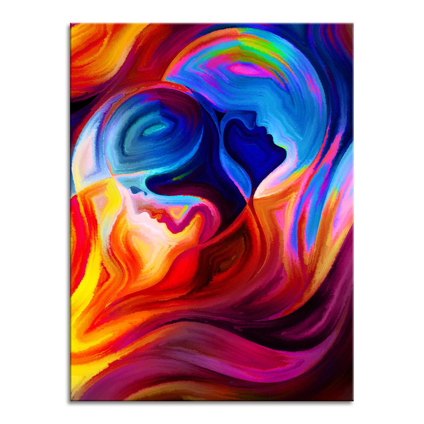 Toile Image XXL abstrait art graffiti DECO DECO DECO PEINTURES MURALES Two Face Art Pression becf0d