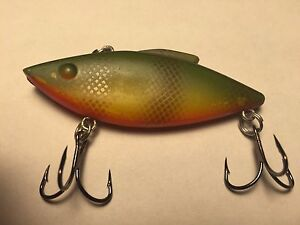 Rat l trap bill lewis 1 4 oz yellow perch color lipless for Rattle trap fishing lure