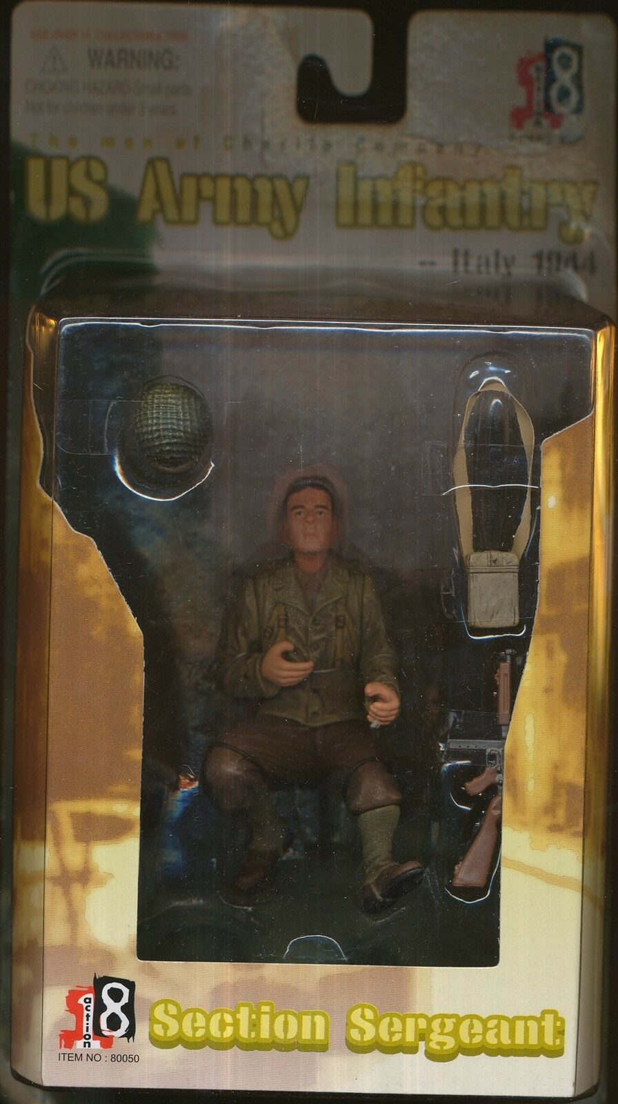 2004 DRAGON MODELS ACTION 8 SECTION SERGEANT ARMY ITALY 1944 3 1 2  FIGURE