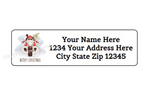 Personalized Address Labels Christmas Santa Sleigh Buy 3 get 1 free ac 252