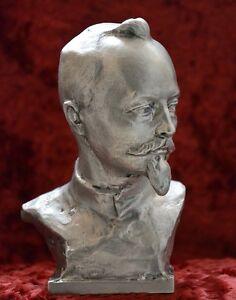 USSR-Russian-Soviet-communist-DZERZHINSKY-bust-statue-Lenin-sc-Murzin-H-18-cm