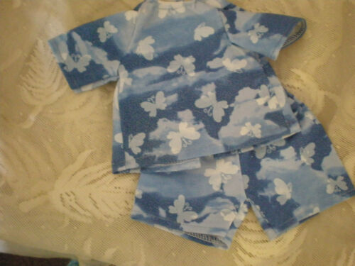 BABY ALIVE DOLL CLOTHES SHORT SET BITTY BABY  blue butterfly