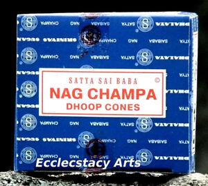 Satya-Nag-Champa-Incense-6-x-12-72-Cones-Sai-Baba-NEW