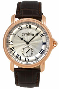 Condor-Classique-Plaque-or-Rose-Hommes-Sangle-Suisse-Montre-C225R