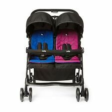 Joie Aire Twin / Double Lightweight Stroller / Pushchair / Pram - Pink / Blue