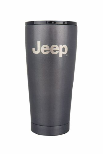 Jeep® Cup Tumbler Thermo 20oz Stainless Steel Charcoal Etched Logo
