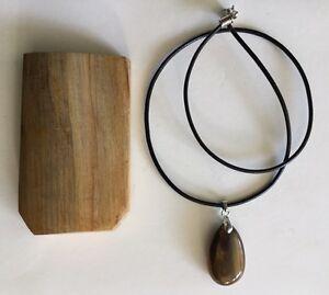 2780ct 100 natural petrified wood pendant sample qld image is loading 27 80ct 100 natural petrified wood pendant amp aloadofball Gallery