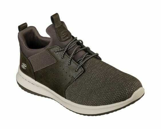 Homme Skechers DELSON Camben Slip-On paniers Olive