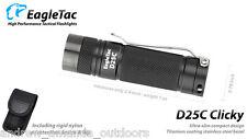 EagleTac D25C Clicky CREE XM-L2 LED Flashlight - 453 Lumens - Upgraded LED