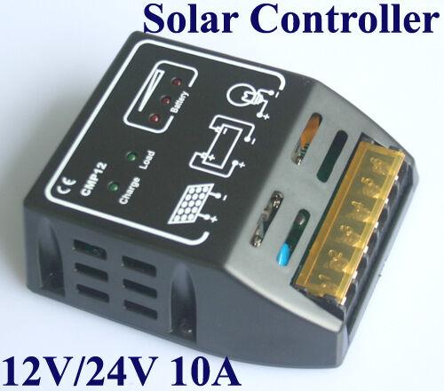 CMP Solar Charge Controller Battery Regulator Panel 10A 12V/24V