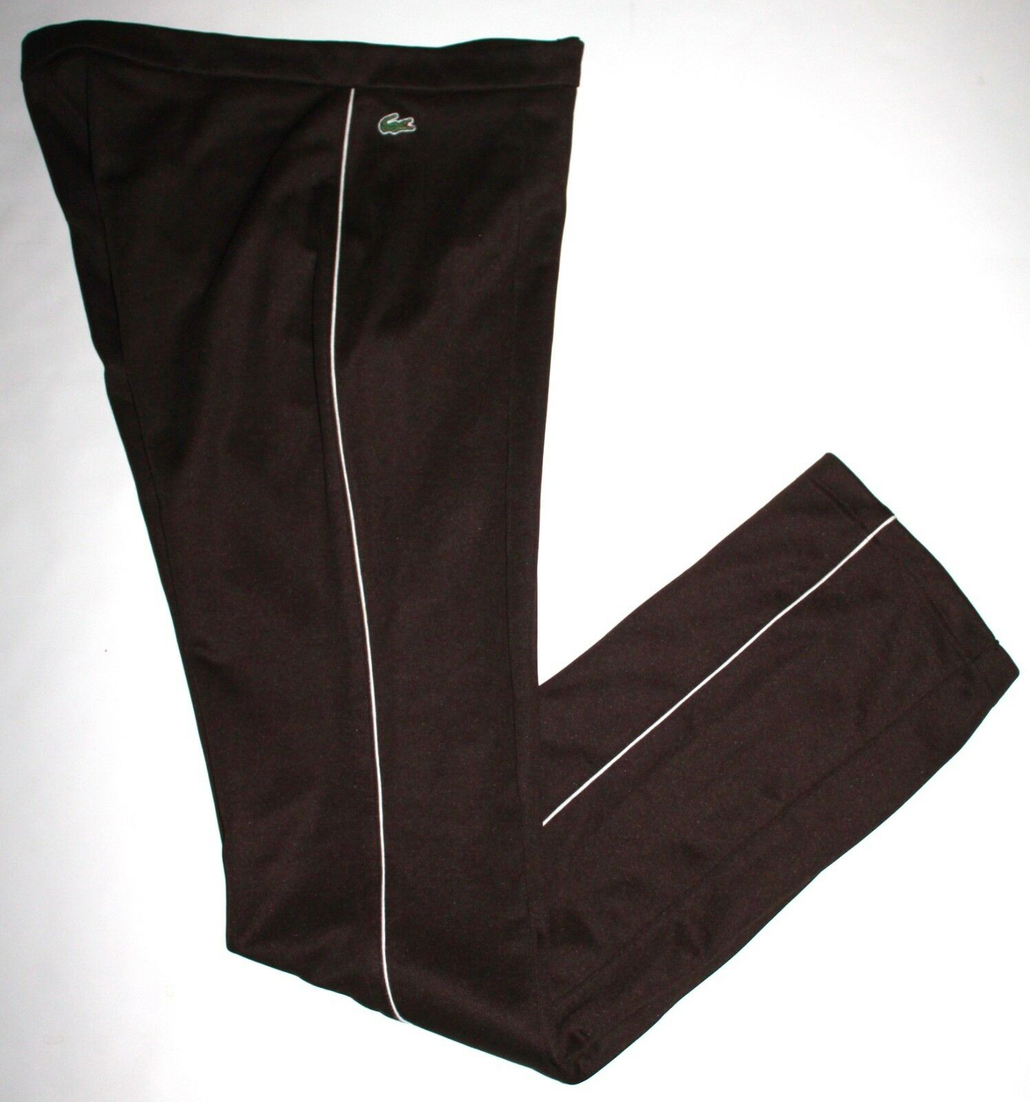 Lacoste Sport Size 40 US 6 8 Long Women's Brown Zip Front Athletic Lounge Pants