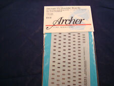 ARCHER FINE TRANSFERS GERMAN SS SHOULDER BOARDS ART & STUG FG35043C 1:35 NEW