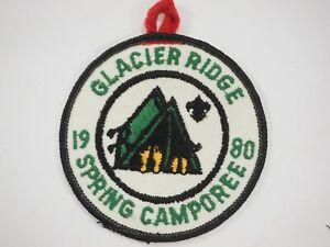 Boy-Scouts-America-BSA-Glacier-Ridge-Spring-Camporee-Cloth-Patch-1980