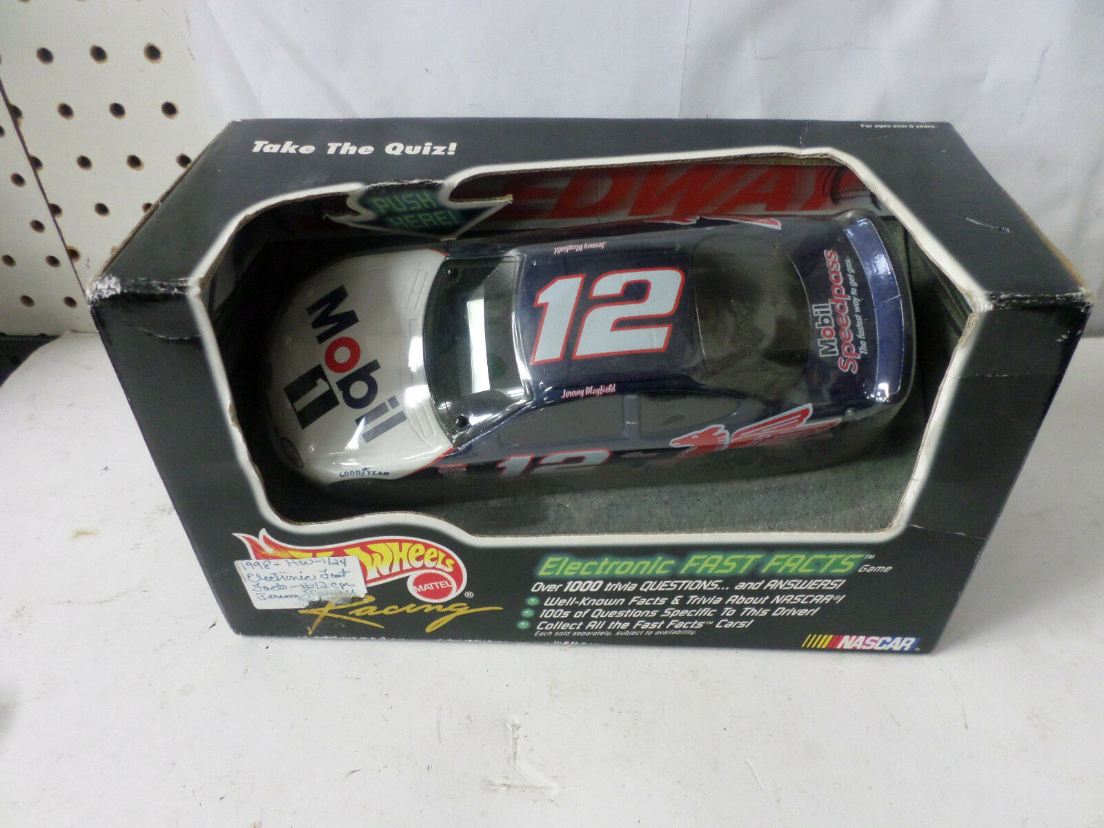 1998 Hot Wheels Racing Mobil 1 Jeremy Mayfield Electronic Fast Facts