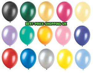 100-Metallic-Pearlised-Latex-Balloons-Helium-LARGE-High-Quality-Wedding-Baloons