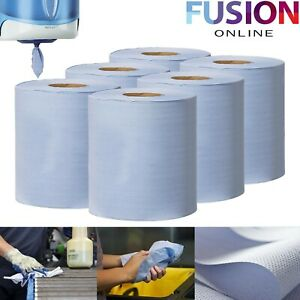 Centrefeed-Tissue-Roll-Paper-Hand-Towel-Gym-Commercial-Industrial-Blue