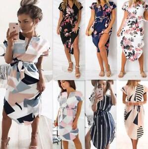 Womens-Summer-Boho-Long-Maxi-dress-Evening-Cocktail-Party-Beach-Dress-Sundress