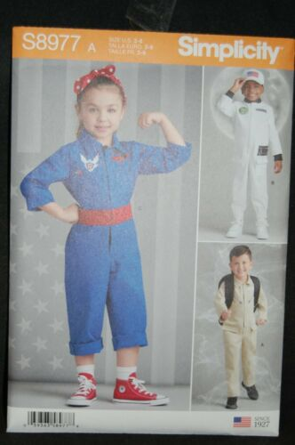 Simplicity Childrens Jumpsuit Spaceman Spacesuit Costumes Sewing Pattern S8977 A