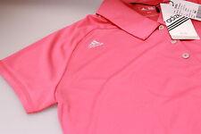 Adidas AdiZero Performance Lycra Moisture Golf Polo Shirt Deep Pink/Silver M 12