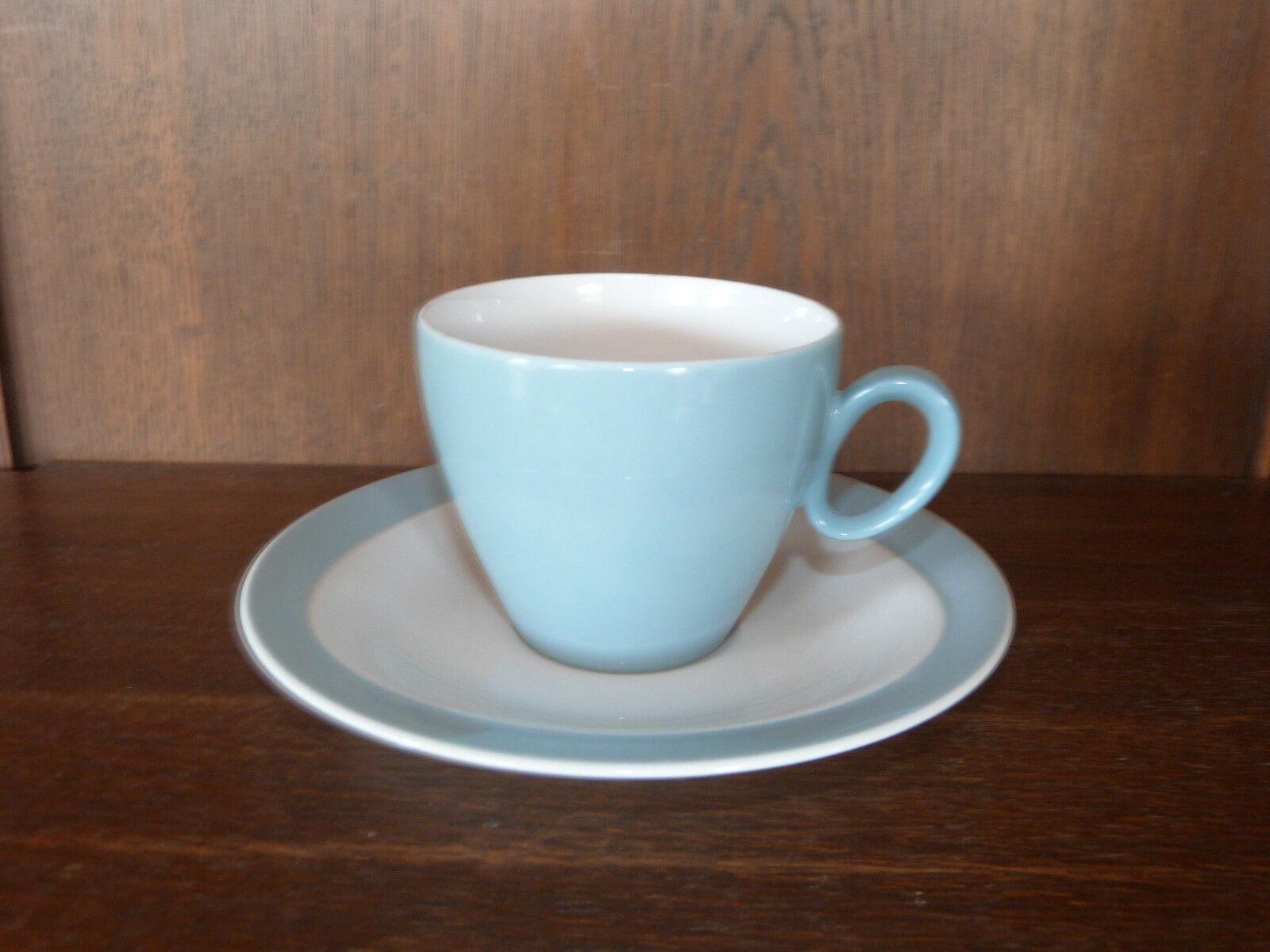 6 Kaffeetassen 2tlg. Trio SpringFarbes polargrau von Seltmann Weiden