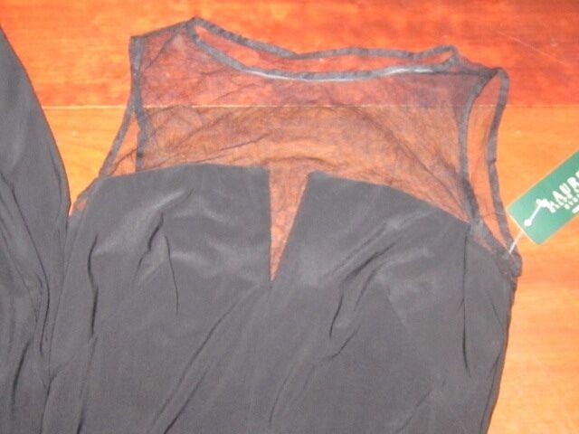 NWT  180.00 Ralph Lauren Lauren Lauren Flattering RUCHED V notch Mesh Jersey Gown Womens 6 f614c6