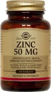 Zinc 50mg Solgar 100 Tabs 33984037205