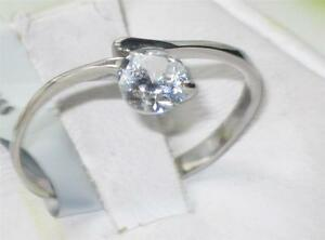 WOMENS-65-C-SOLITAIRE-ENGAGEMENT-RING-SIMULATED-DIAMONDS-STAINLESS-STEEL-STR425