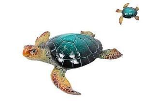 Blue-Turtle-Marble-Look-Realistic-Indoor-Ornament-Figurine-Statue-Art