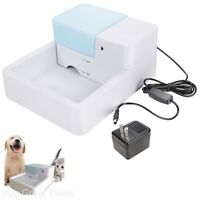 Pet Water Bowl Drink Water Dish Dog Pup Cat Auto Self-filling Electric Led 1.8 L