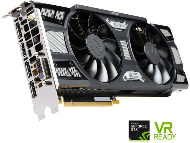 EVGA GeForce GTX 1070 SC GAMING ACX 3.0 Black Edition, 08G-P4-5173-KR, 8GB GDDR5