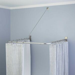 Image Is Loading Naiture Brass U Shaped Shower Curtain Rod In