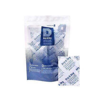 "5 Gram/"" Dry /& Dry/"" Premium Blue Indicating Silica Gel Packets 50 Pk Reusable"