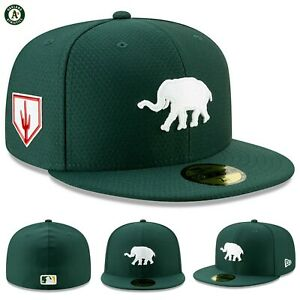 Green MLB Cap 7 3//8 New Era Oakland Athletics ROAD 59Fifty Fitted Hat