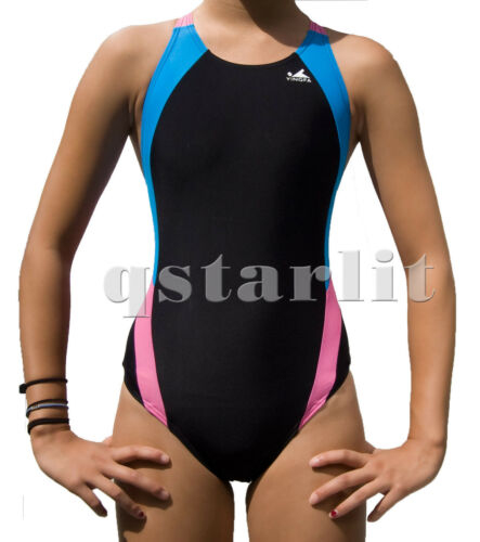 Girls Women Female Racing Training Bathing Team Swimsuit Swimwear Size 22-34