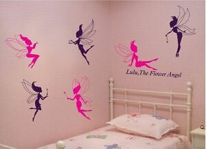Fairies x 6PCs Removable Wall Art Stickers Kids Nursery Vinyl Decal Decor Large
